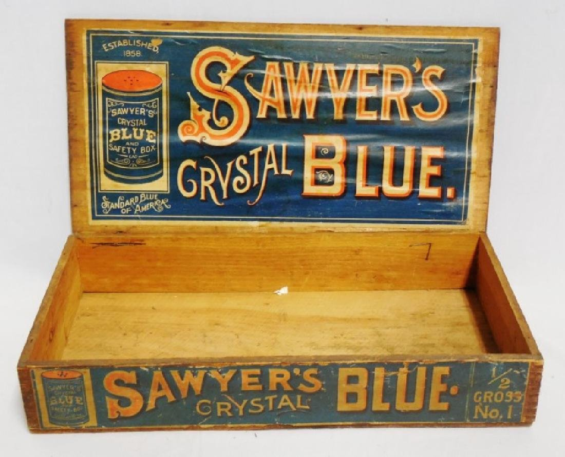 """Sawyer's Crystal Blue"" Wooden Box with Lid - 2"