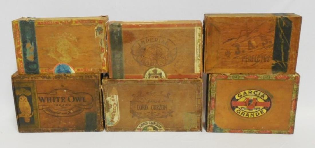 Lot of 6 Assorted Cigar Boxes