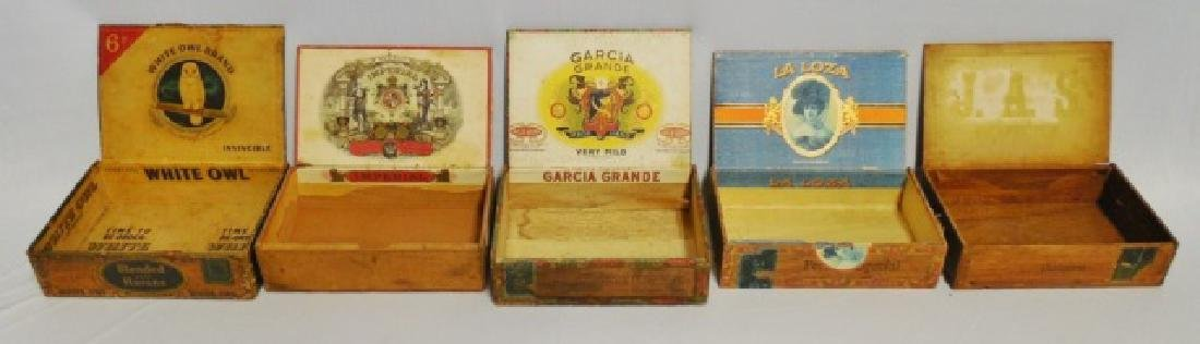 Lot of 6 Assorted Cigar Boxes - 3