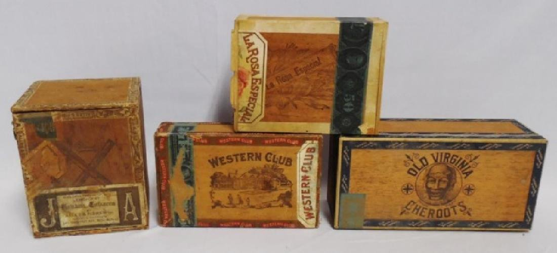 Lot of 4 Assorted Cigar Boxes