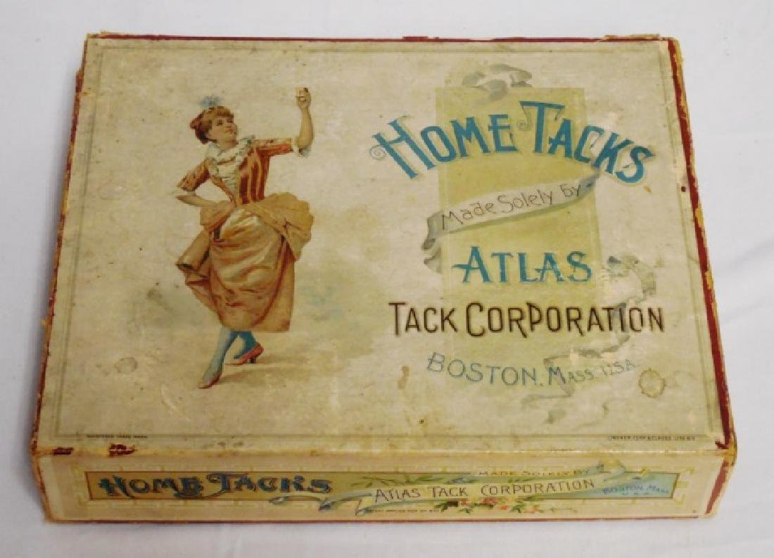 """Home Tacks Atlas Tack Corporation"" Sales Box"