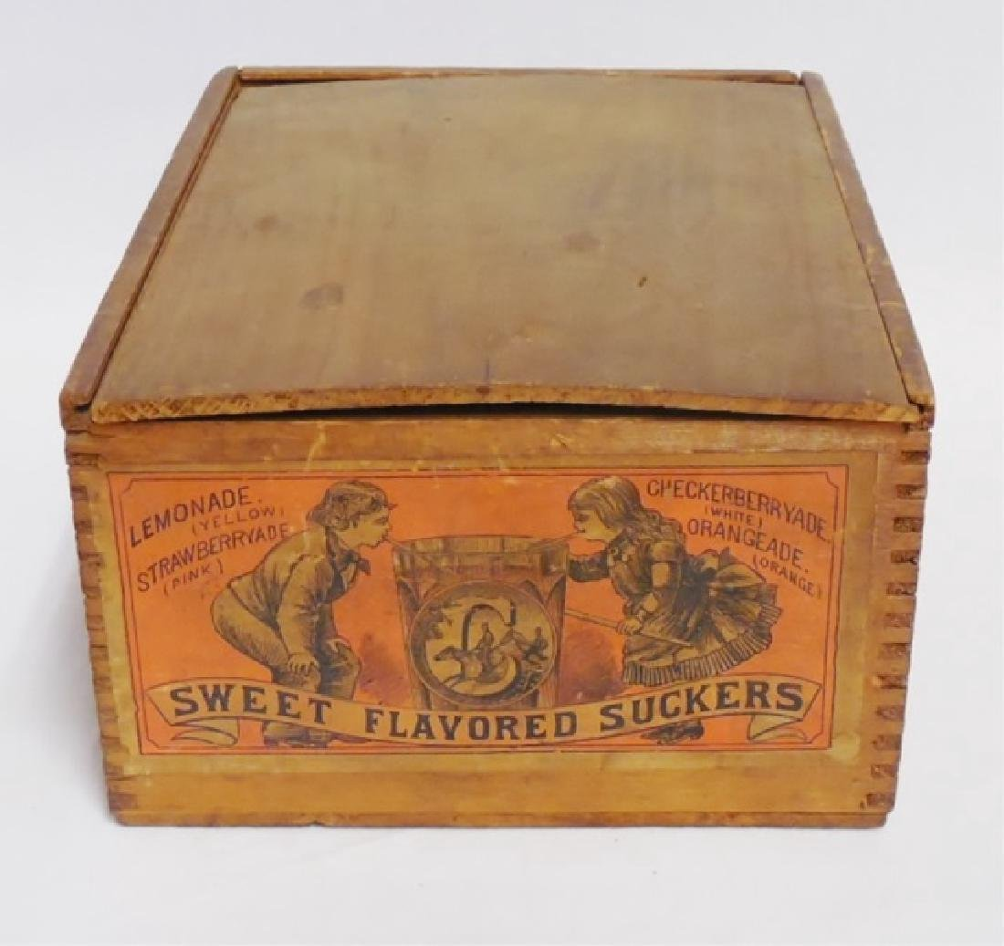 """Sweet Flavored Suckers"" Wooden Box"