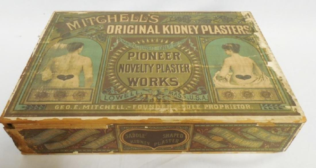 """Kidney Plasters"" Wooden Box with Drawer"