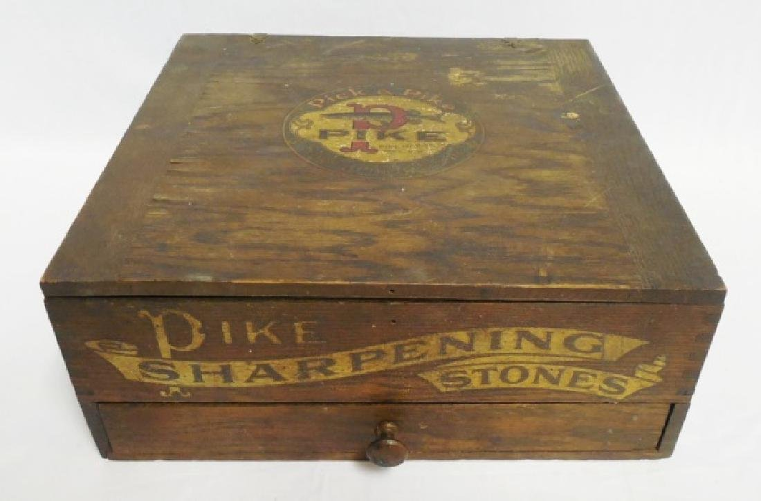 """""""Pick a Pike Sharpening Stones"""" Wooden Box"""