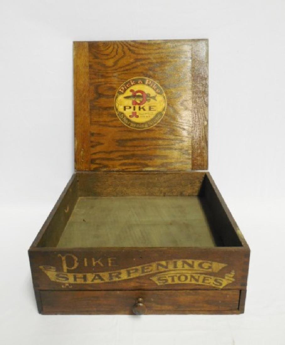 """Pick a Pike Sharpening Stones"" Wooden Box - 3"