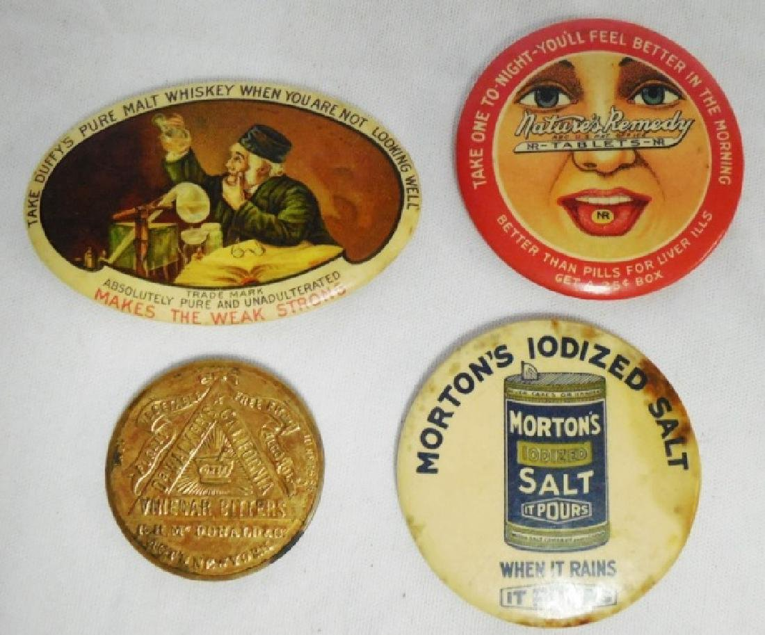 Lot of 4 Advertising Pocket Mirrors