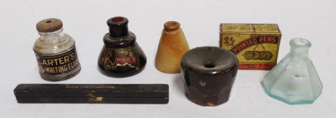 Ink Wells, Pen with Case, and More