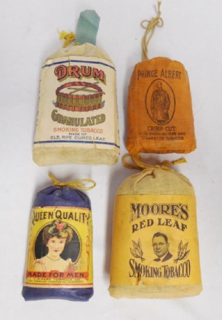 Lot of 4 Assorted Tobacco Bags
