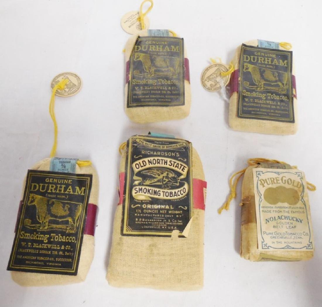 Lot of 5 Assorted Tobacco Bags