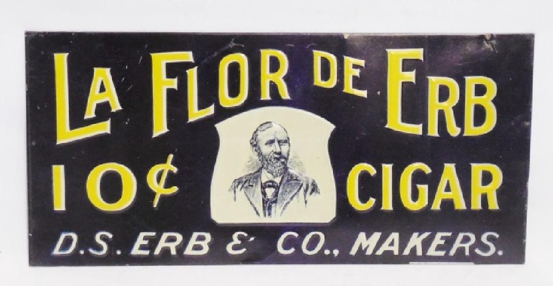 """La Flor De Erb 10 Cent Cigar"" Advertising Sign"
