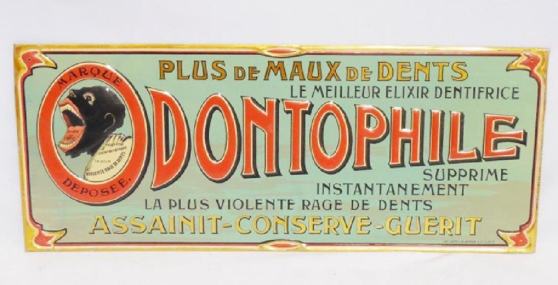 """Dontophile"" Advertising Tin Sign"