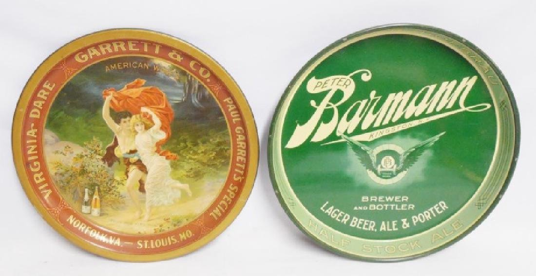 Lot of 2 Advertising Beer Trays