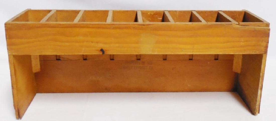 """Baker's Flavoring Extracts and Colors"" Wooden Box - 3"