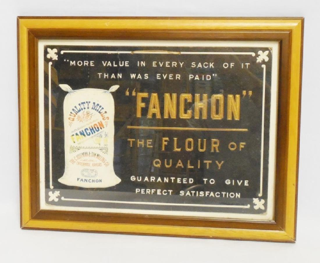 """Framed Ad. """"Fanchon The Floor Of Quality"""""""