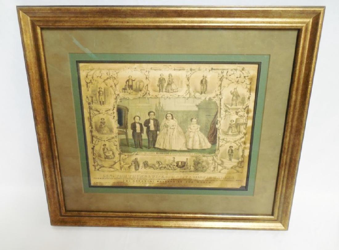 """Framed """"Currier and Ives"""" Picture"""
