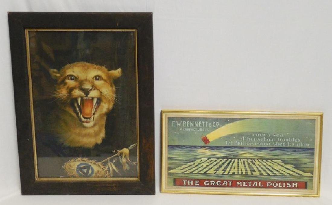 Lot of 2 Framed Advertisements
