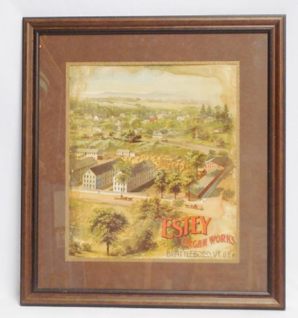 "Framed Advertisement ""Estey Organ Works"""