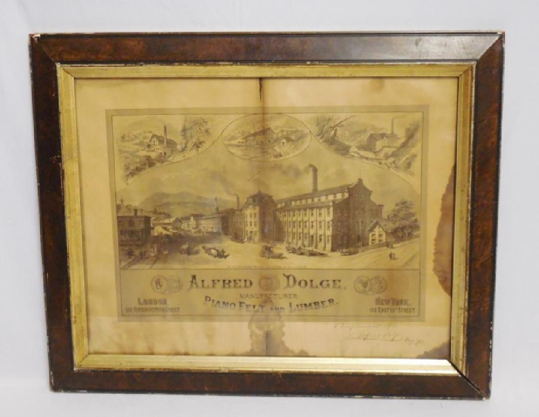 Framed Advertisement