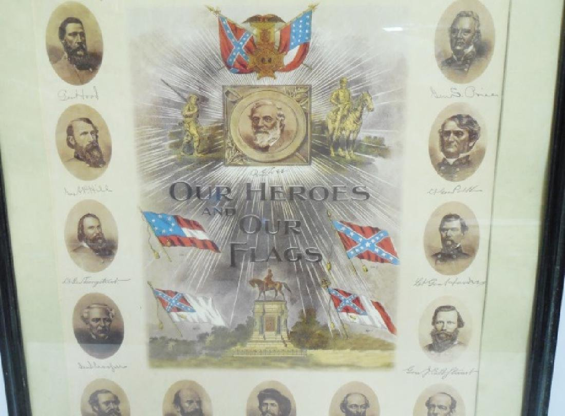 "Framed Picture ""Our Heroes and Our Flags"" - 2"