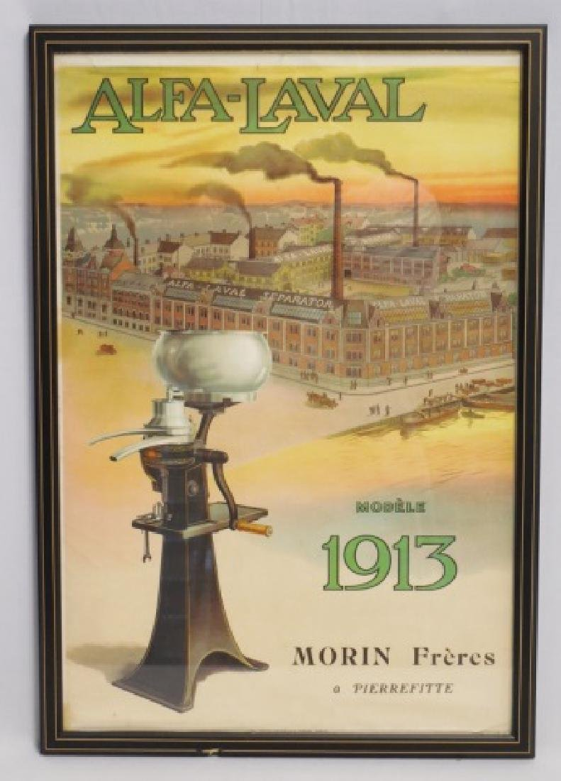 "Framed Advertisement ""Alfa-Laval Separator"""
