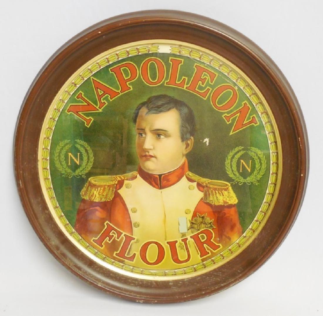 "Framed Circular Advertisement ""Napoleon Flour"""
