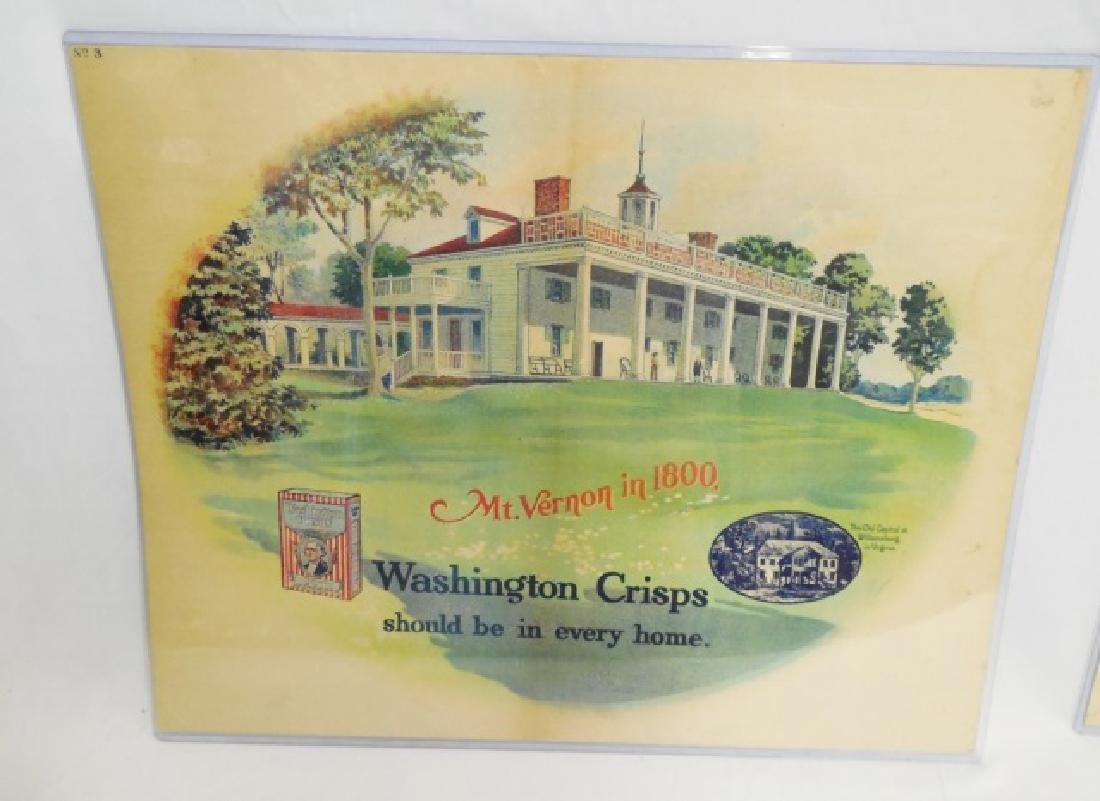 "Lot of 2 ""Washington Crisps"" Advertisements - 2"