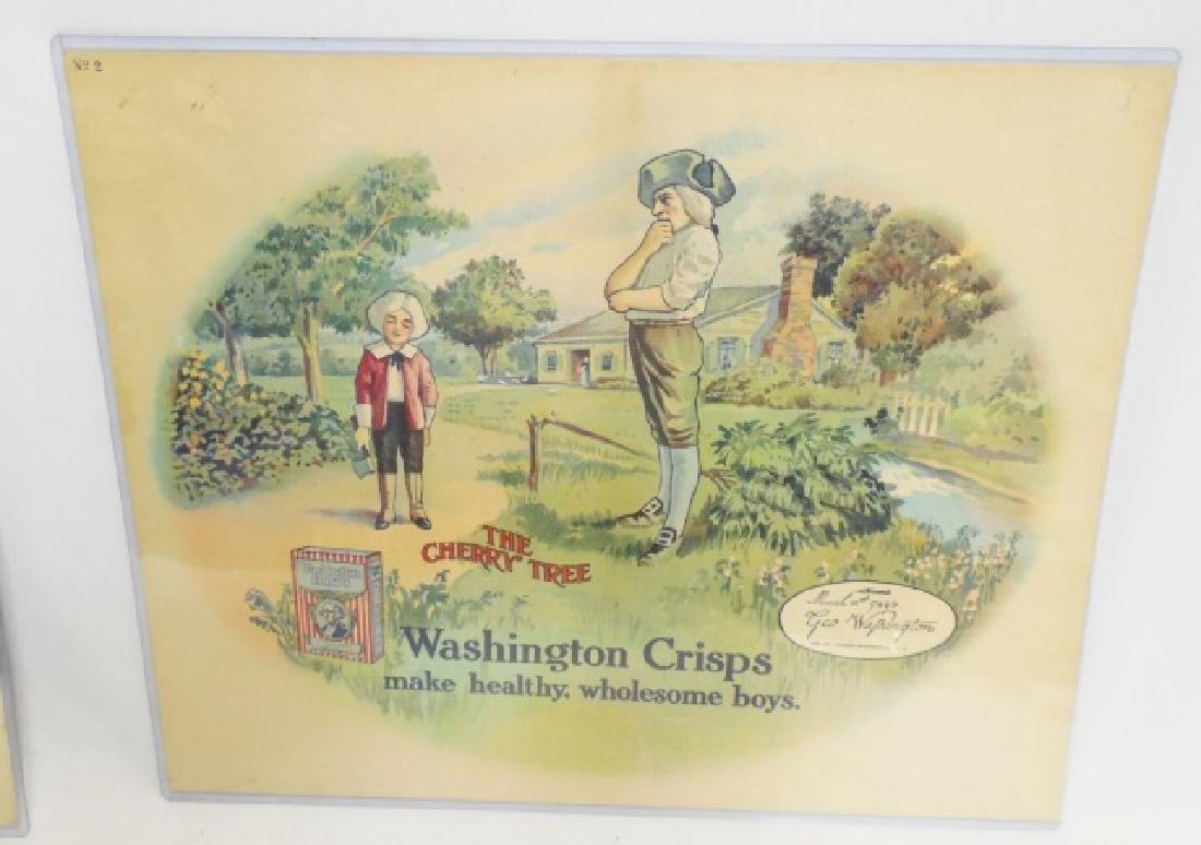 "Lot of 2 ""Washington Crisps"" Advertisements - 3"
