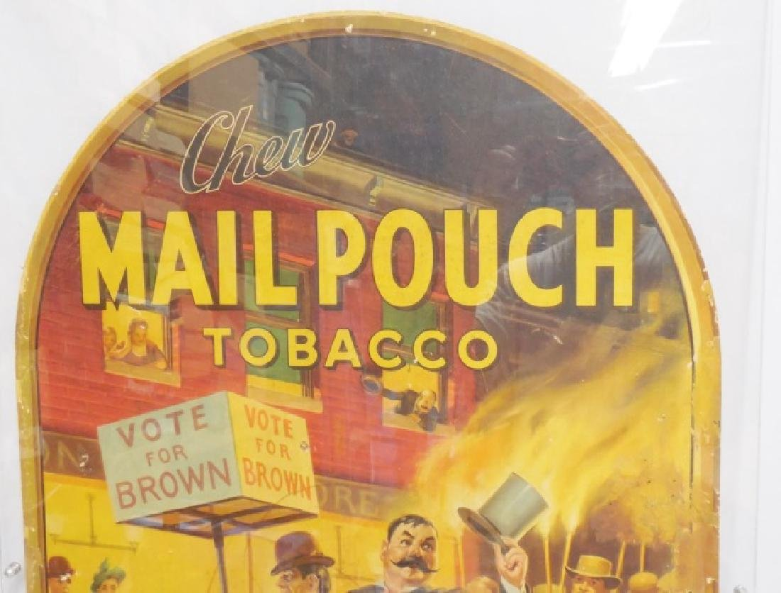 "Cardboard Advertisement ""Chew Mail Pouch Tobacco"" - 2"