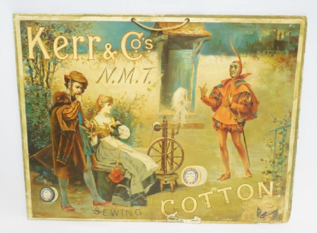 """Thick Cardboard Ad """"Kerr and Co's Sewing Cotton"""""""
