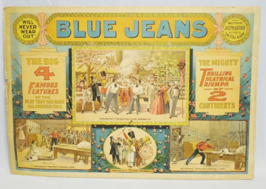 """Thick Posterboard Ad """"Blue Jeans"""""""