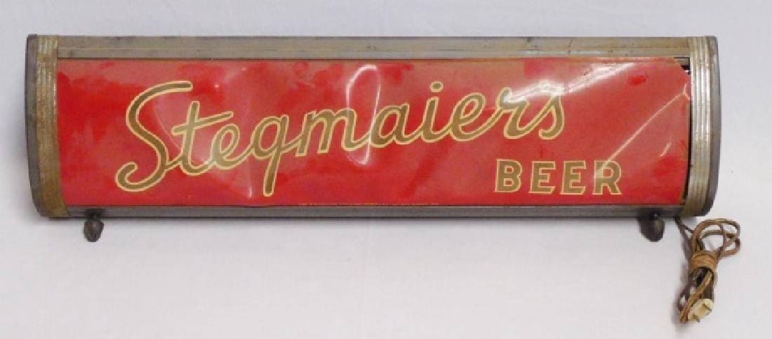 """Stegmaier's Beer"" Light Wilkes-Barre PA"