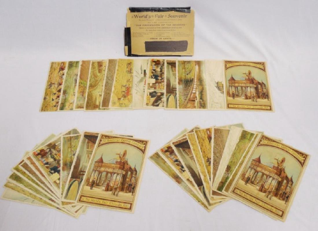 Lot of 3 Picture Cards from the World's Fair 1893