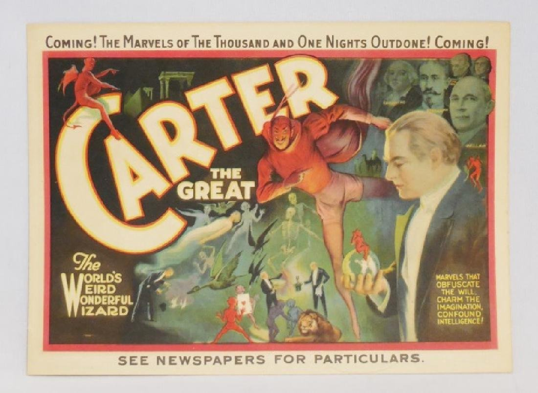 "2-Sided Program for ""Carter the Great"""
