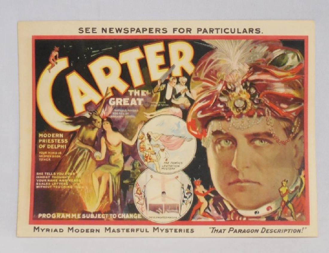 "2-Sided Program for ""Carter the Great"" - 3"