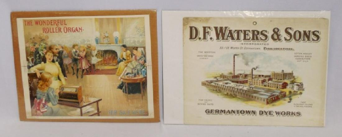 Lot of 2 Cardboard/Paper Advertisements