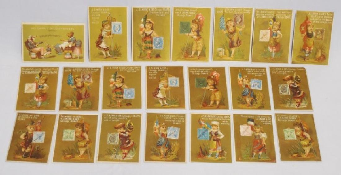 "Lot of 21 ""JAS S Kirk and Co Soap Makers"" Cards"