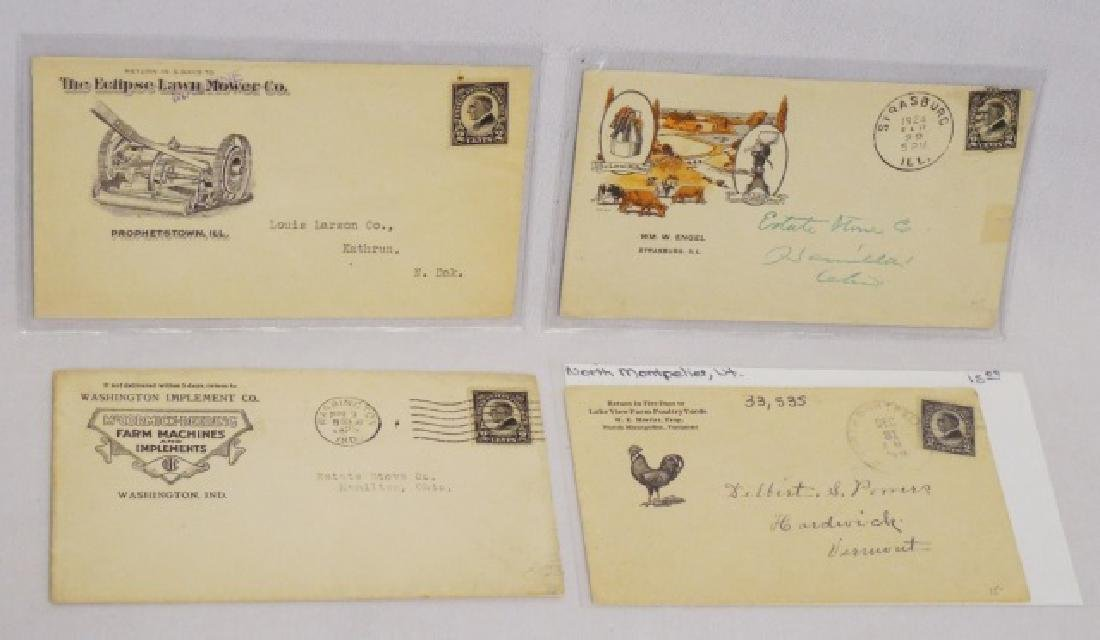 Lot of 4 Circulated Envelopes w/Agricultural Ads