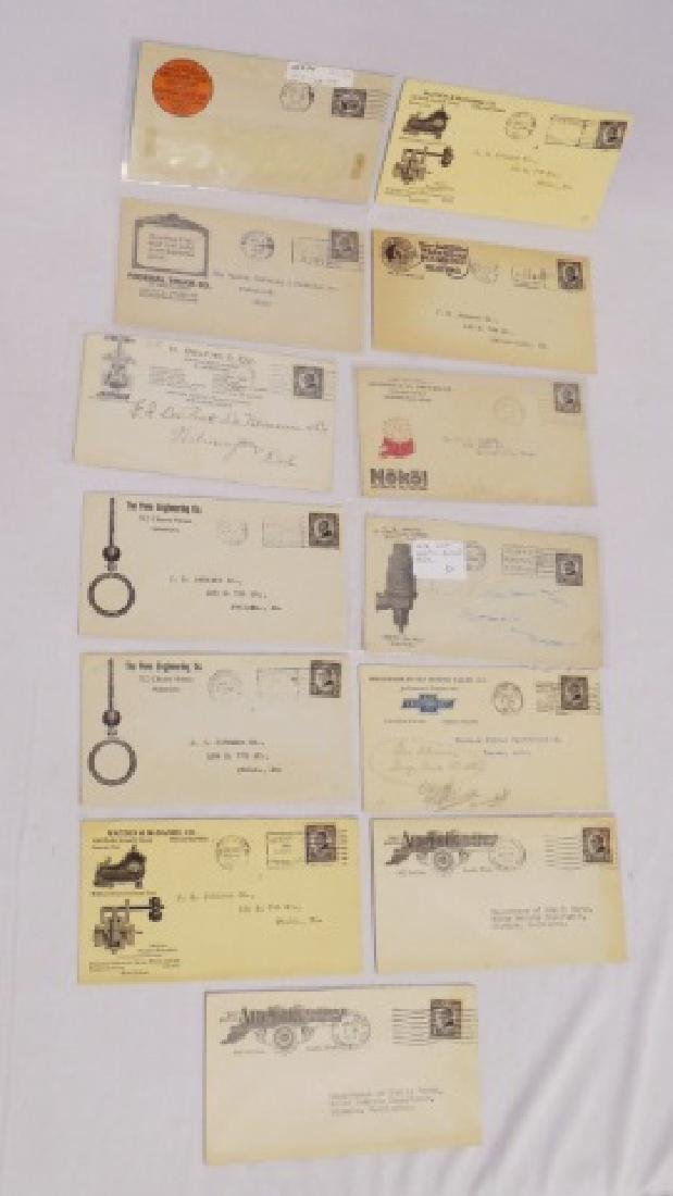 Lot of 13 Circulated Envelopes with Advertising