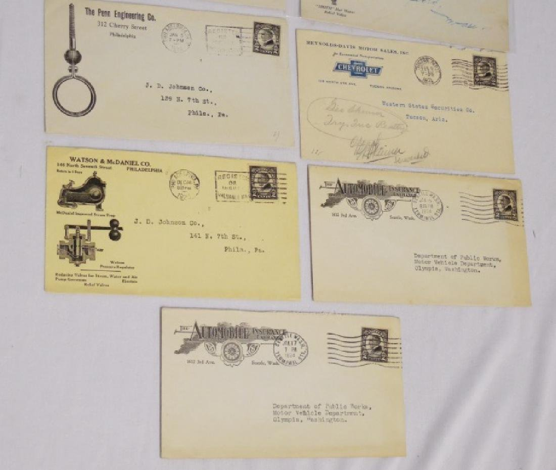 Lot of 13 Circulated Envelopes with Advertising - 4