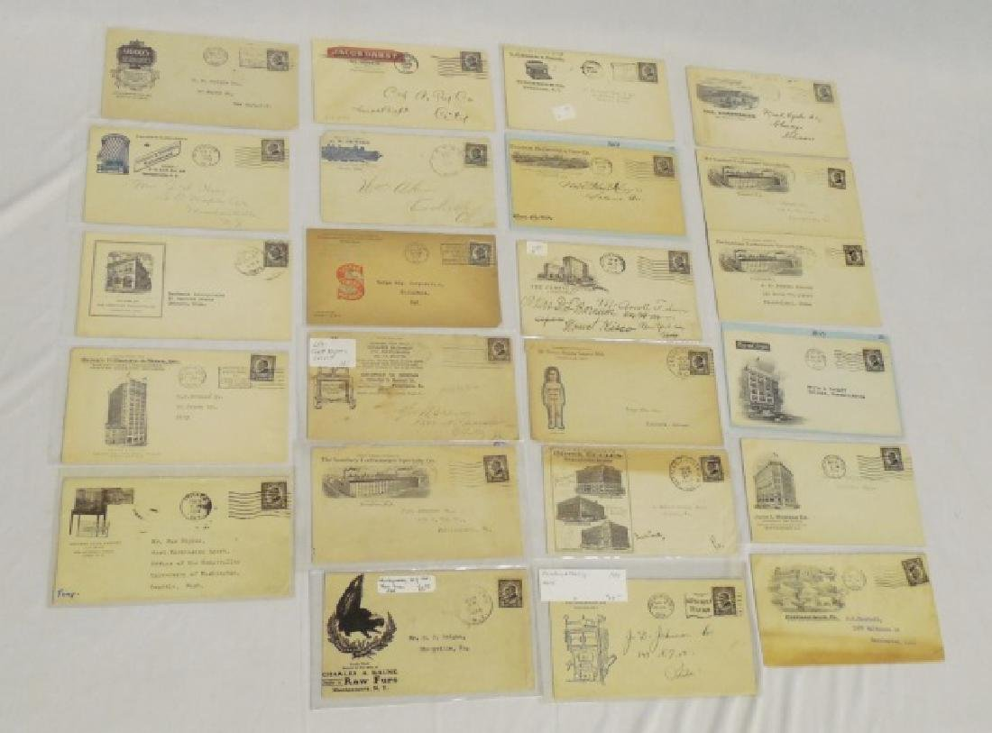 Lot of 24 Circulated Envelopes with Advertising