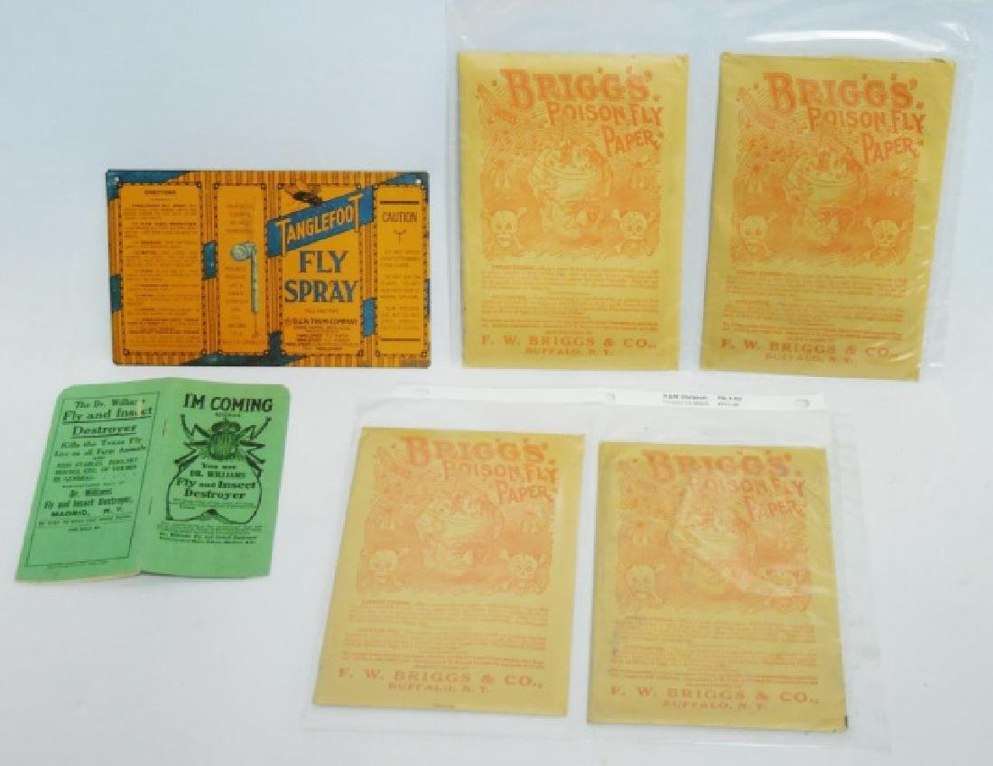 Lot of Assorted Fly Killer Ads/Paper/Sign/Products