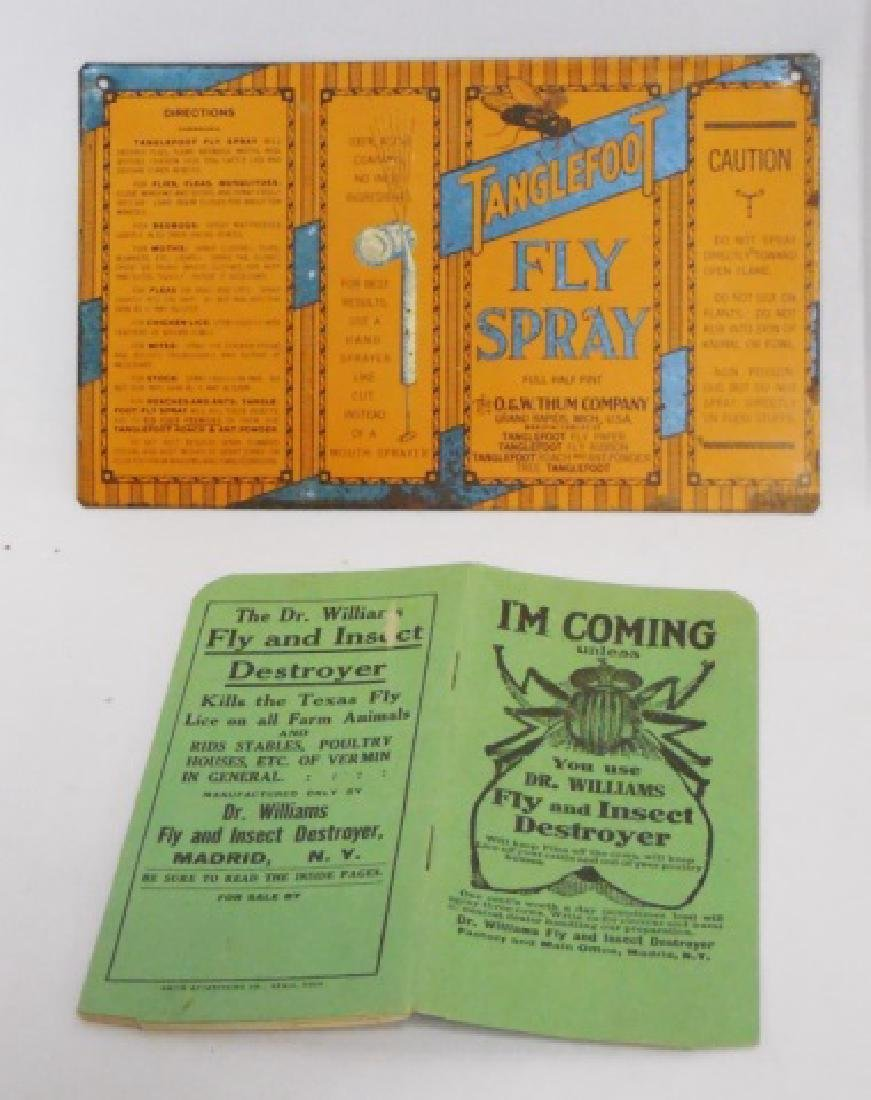 Lot of Assorted Fly Killer Ads/Paper/Sign/Products - 2