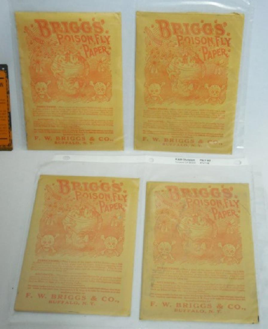 Lot of Assorted Fly Killer Ads/Paper/Sign/Products - 3
