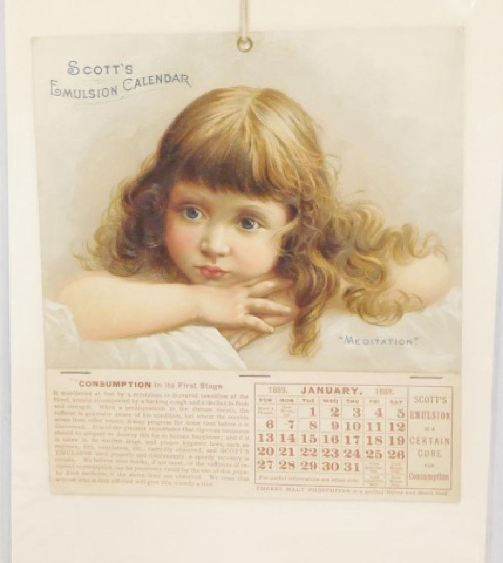 Lot of 4 Advertising Calendars - 4