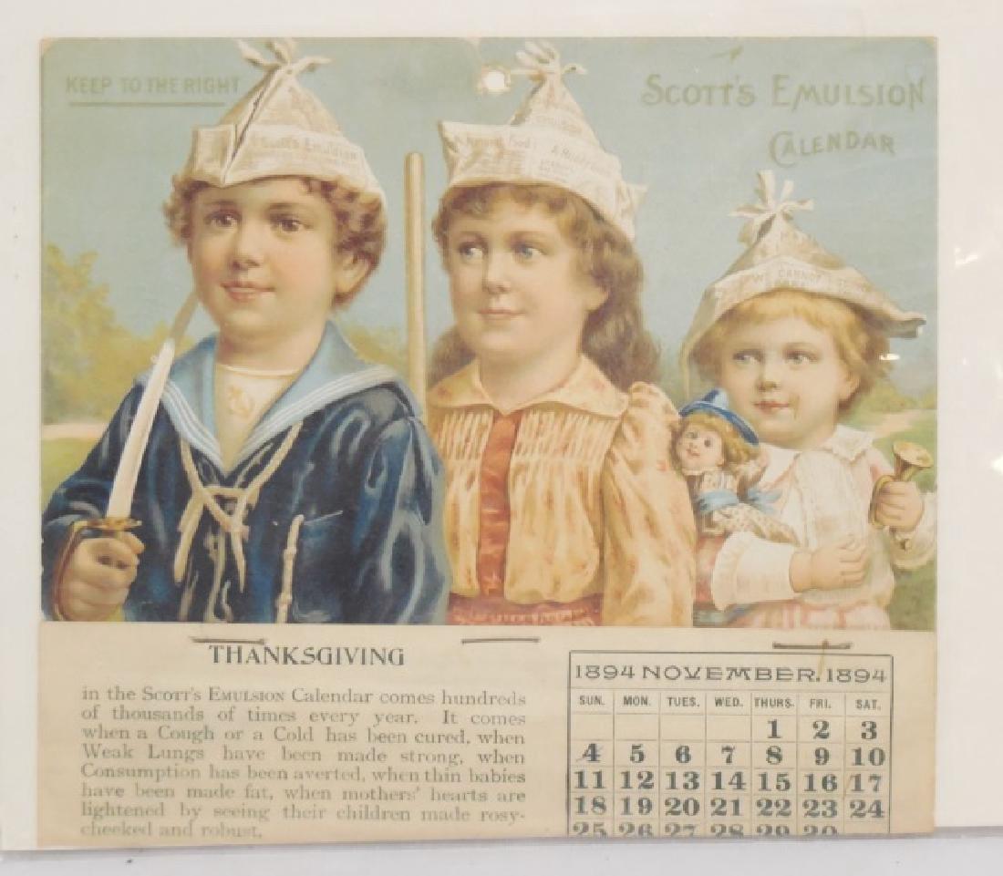 Lot of 4 Advertising Calendars - 5