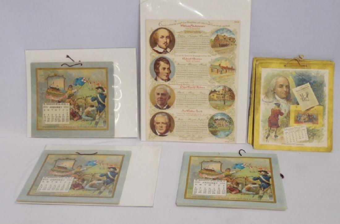 Lot of 5 Historical Figure Calendars