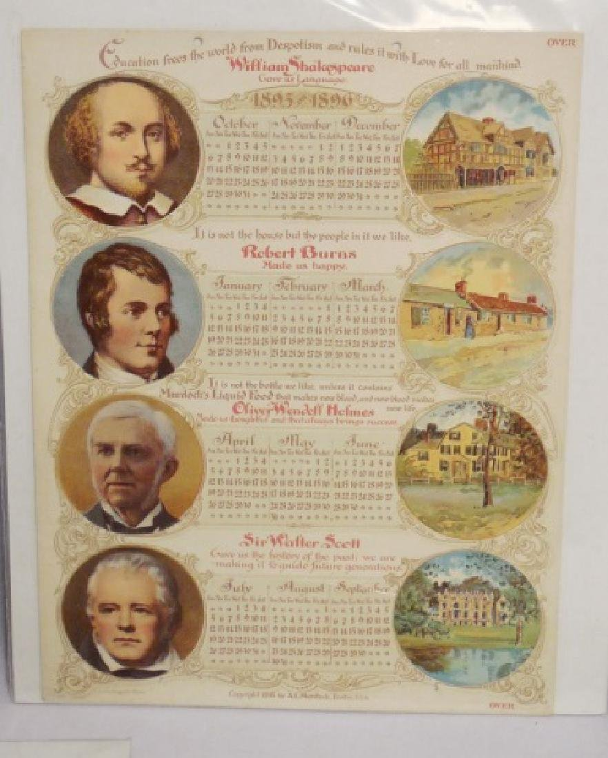 Lot of 5 Historical Figure Calendars - 3