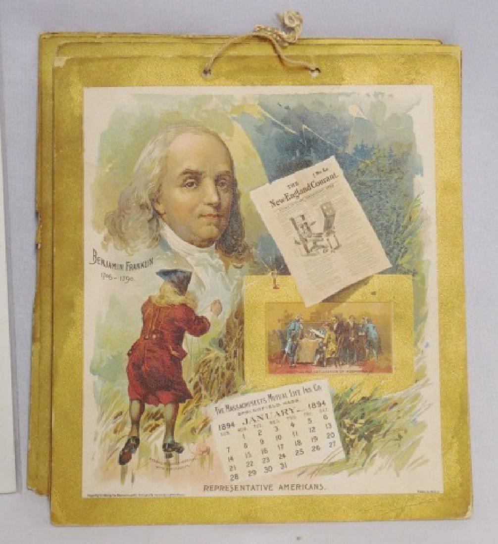 Lot of 5 Historical Figure Calendars - 4