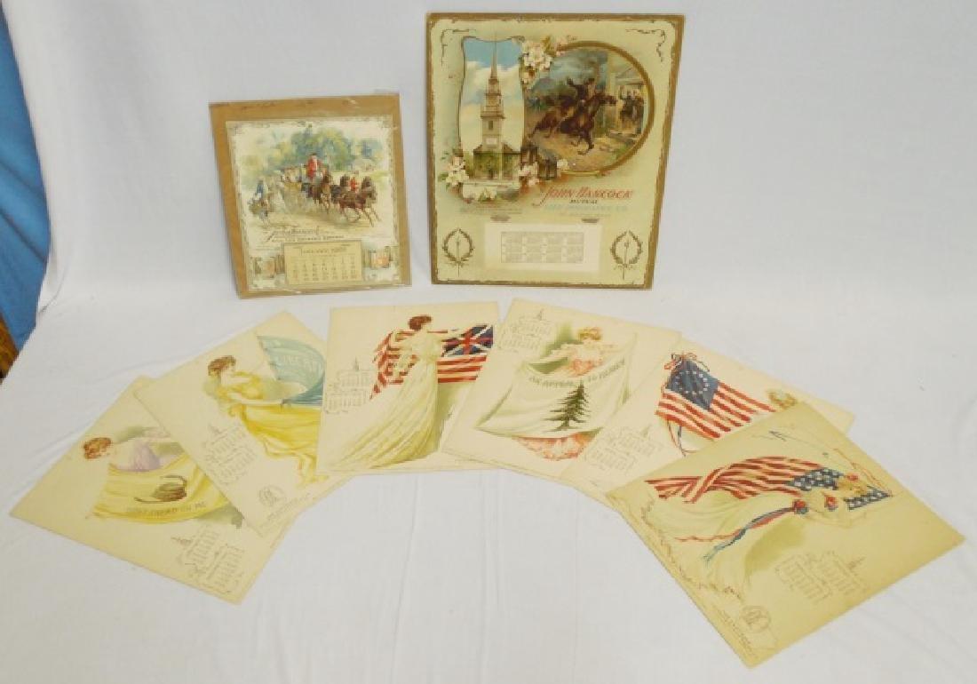 Lot of 3 Life Insurance Calendars 2 1903/ 1 1904