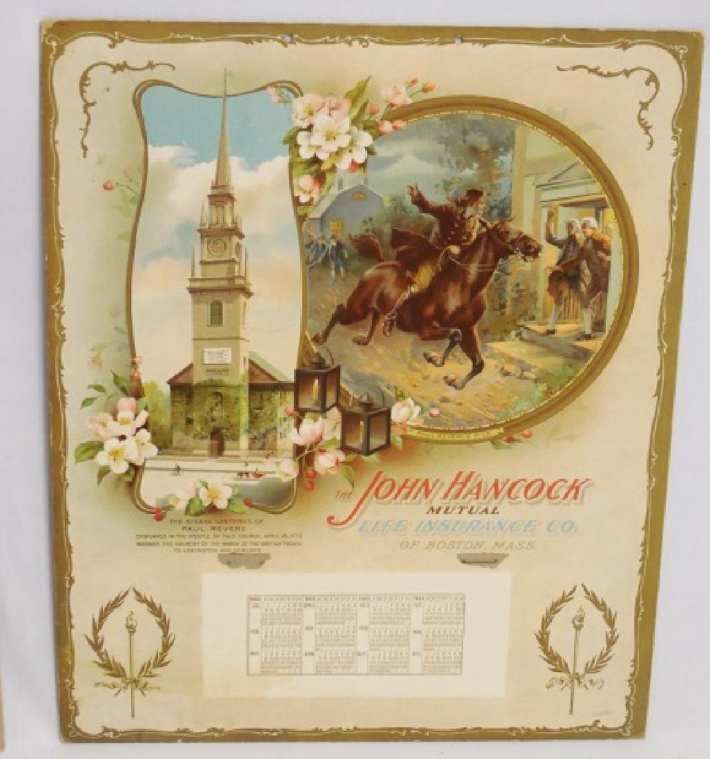 Lot of 3 Life Insurance Calendars 2 1903/ 1 1904 - 3
